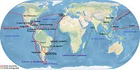 Main Trade Routes of the Spanish Empire