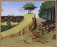 The death of the Frankish leader Roland defeated by a Basque and Muslim-Mulwallad (Banu Qasi) alliance at the Battle of Roncevaux Pass (778) originated the Kingdom of Navarre led by Íñigo Arista.