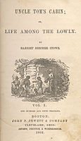 """Uncle Tom's Cabin by Harriet Beecher Stowe, aroused public opinion about the evils of slavery. According to legend, when Lincoln was introduced to her at the White House, his first words were, """"So this is the little lady who started this Great War."""""""