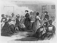 Northern teachers traveled into the South to provide education and training for the newly freed population.