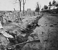Confederate dead overrun at Marye's Heights, reoccupied next day May 4, 1863