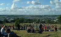 The view from the stone circle on Thursday afternoon, 2004