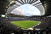 The City of Manchester Stadium – the home of Manchester City since 2003