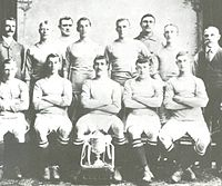 The Manchester City team which won the FA Cup in 1904