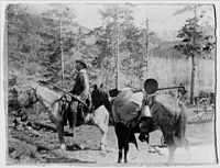 Swedish gold panners in 1860s Montana. The Montana gold rush began in 1862.
