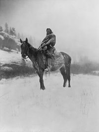 The Scout in Winter, Crow, 1908 by Edward S. Curtis
