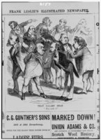 """""""Salary Grab"""" caption: """"That salary grab – 'You took it'"""" Frank Leslie's Illustrated Newspaper December 27, 1873"""