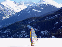 Ice sailing in Whistler