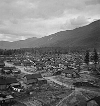 Internment camp for Japanese Canadians during World War II