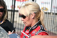 DeLana Harvick at Charlotte Motor Speedway in May 2011.
