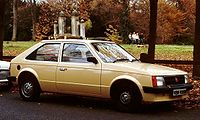 The Vauxhall Astra Mk I, in production from 1979 to 1984