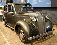"""The 10-4 of 1937 was the first mass-production British unibody saloon car and was called """"The £1 Million Motor Car"""" after its costly and extensive development programme."""