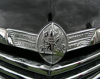 A Vauxhall grillplate from the 1940s showing the Griffin logo