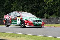 Tom Chilton driving for Vauxhall at the Oulton Park round of the 2007 British Touring Car Championship