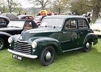 The L-Type Wyvern was the first new post-war Vauxhall and was essentially a reskin of the pre-war 10-4.