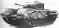 A Mk IV Churchill tank (75mm), of which 7,368 were manufactured by Vauxhall between 1941 and 1945