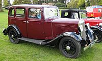1933 Vauxhall Light Six. This was the first Vauxhall to sell in numbers comparable to rivals from the largest British car makers of the day.
