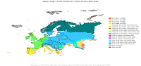 Köppen-Geiger climate classification map for Europe.