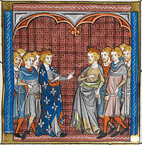 Tancred of Sicily and Philip II of France, during the Third Crusade (1189–1192)