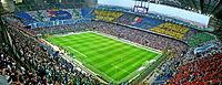 Football is one of the most popular sports in Europe. (San Siro stadium in Milan)