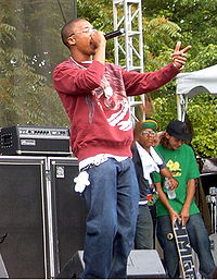 Lupe Fiasco performing at the Intonation Music Festival, 2006.