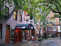 The Cherry Lane Theatre is located in Greenwich Village.