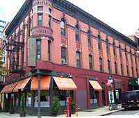 396-397 West Street at West 10th Street is a former hotel which dates from 1904, and is part of the Weehawken Street Historic District