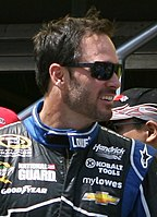 Jimmie Johnson won the race.
