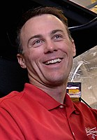 Kevin Harvick won the pole, setting a new track record.