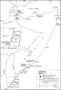 Somalia's coral reefs, ecological parks and protected areas