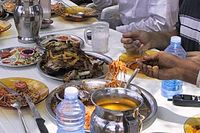 Various types of popular Somali dishes