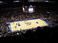 The Oklahoma City Thunder moved there in 2008, becoming its first permanent major-league team in any sport.
