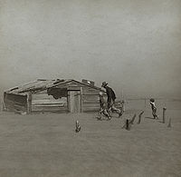 The Dust Bowl sent thousands of farmers into poverty during the 1930s.