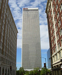 The BOK Tower of Tulsa, Oklahoma's second-tallest building, serves as the world headquarters for Williams Companies.