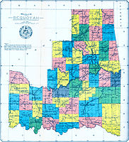 This map of the 'State of Sequoyah' was compiled from the USGS Map of Indian Territory (1902), revised to include the county divisions made under direction of Sequoyah Statehood Convention (1905), by D.W. Bolich, a civil engineer at Muskogee.