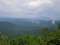 The Ouachita Mountains cover much of southeastern Oklahoma.