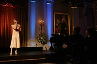Rimes performing in the East Room of the White House before President George W. Bush and Laura Bush, 2006