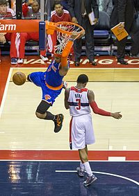 Anthony dunking in 2013.
