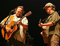 Stills and Young performing together on the Crosby, Stills, Nash & Young 2006 tour