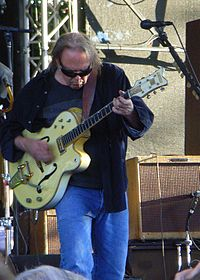 Young playing a Gretsch White Falcon in Cologne, June 19, 2009