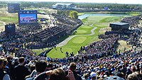 The Opening tee at the 2018 Ryder Cup at Le Golf National