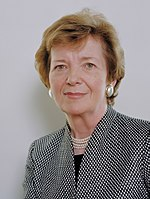 7th President of Ireland and United Nations High Commissioner for Human Rights Mary Robinson (LLM, 1968)