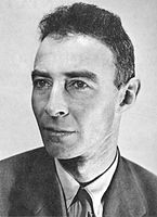 Physicist and leader of Manhattan Project J. Robert Oppenheimer (AB, 1925)