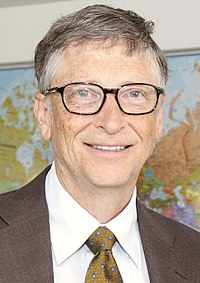 """Founder of Microsoft and philanthropist Bill Gates (College, 1977;<ref group=""""a"""" name=""""nodegree"""">Nominal Harvard College class year: did not graduate</ref> LLD hc, 2007)"""