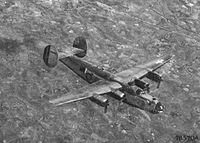 A B-24 Bomber flying over China during WW2