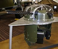 Turret assembly of B-24D Liberator bomber, Hill Aerospace Museum.
