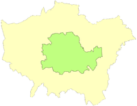 County of London superimposed upon Greater London