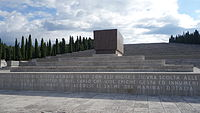 The Italian Redipuglia War Memorial, which contains the remains of 100,187 soldiers