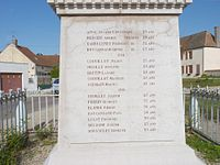 A typical village war memorial to soldiers killed in World War I