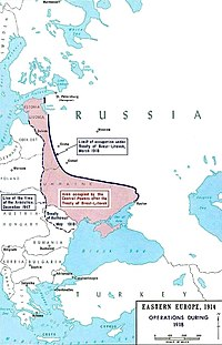Territory lost under the Treaty of Brest-Litovsk
